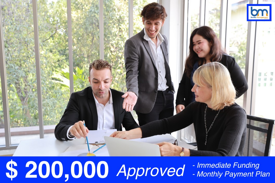 $ 200,000 Approved for Low Credit Scored Business Owner on Monthly Payment Plan & Next Day Funding